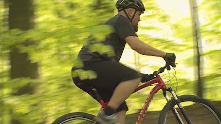 Søren Holm på sin cykel